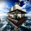 Oil rig  platform — Stock Photo #69889775