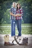 Cute couple — Stock Photo