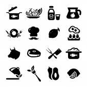 Новые иконки еда — Cтоковый вектор