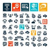 Communication web icons set — Stockvektor