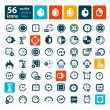 Color clock icons set — Vector de stock  #63981297