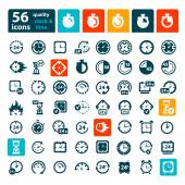 Color clock icons set — Stock Vector
