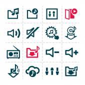 Music line icons — Stockvektor