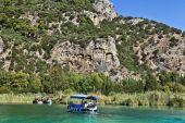 Boats in Dalyan, Turkey. — Zdjęcie stockowe