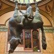 The upside down statue of King Wenceslas mounted on a horse. — Stock Photo #58058947