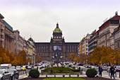 St Wenceslas Square in Prague. — Stock Photo