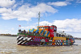 River Mersey Dazzle Ferry in Liverpool. — Stock Photo