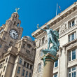 Historic buildings at Liverpool's waterfront. — Stock Photo #72470391