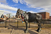 Horse sculpture in Liverpool, England. — Stock Photo