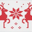 Vector knitting ornament with deer — Stock Vector #59527061