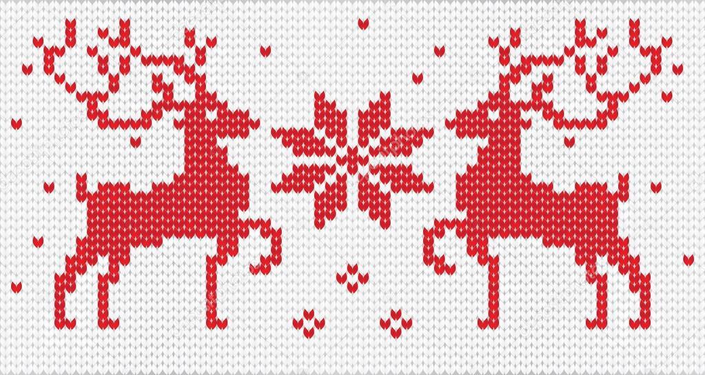 сейчас вышить оленя на вязанном свитере Джудд