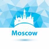 Silhouette of Moscow — Vector de stock