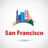 Silhouette of San Francisco — Stock Vector