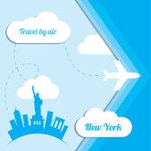 Travel to New York — Stock Vector
