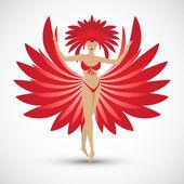 Dancer - Rio de Janeiro symbol — Stock Vector