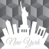 White New York paper skiline — Vecteur