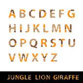 English alphabet - Jungle design — Vecteur