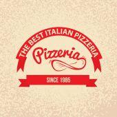 Italian cuisine Retro Vintage Label — Stock Vector
