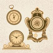 Ancient Clock Set — Stock Vector