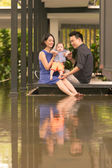 Chinese family with son — Stock Photo