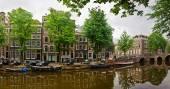 Amsterdam stad scène — Stockfoto