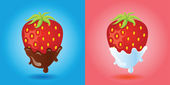 Strawberries vector image — Stock Vector
