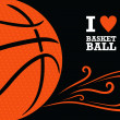Постер, плакат: Vector basketball themed background