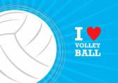 Vector volleyball themed background — Stock Vector