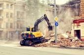 Demolition of the old building — Stockfoto
