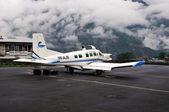 Tenzing-Hillary airport in the settlement of Lukla (2860 m) — Stock Photo