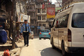 The police officer on streets of Katmandu. Nepal — Stock Photo