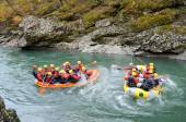 River rafting — Stock Photo