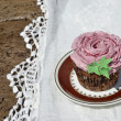 Cupcake decorated in flower shape — Stock Photo #53375119