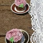 Blackberry fruit cupcakes — Stock Photo #53376963