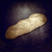 Loaf of bread grunge background — Foto Stock