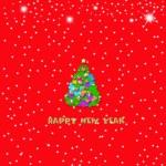 Happy New Year Christmas card — Stock Photo #56542733