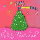 Feliz Navidad, child Christmas greeting card — Stock Photo
