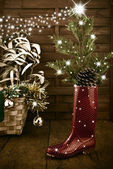 Cool Christmas tree greeting card — Foto de Stock
