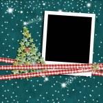 Christmas photo frame fir tree — Stock Photo #58941019
