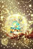 Christmas spirit postcard — Stockfoto