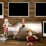 Christmas four empty photos  frames card — Stock Photo #60428865