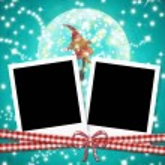 Christmas cards photo frames cute elf — Stock Photo #60532165