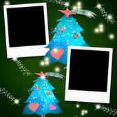 Christmas cards photo frames in blank — Stock Photo