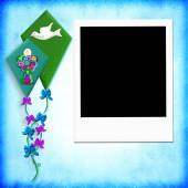 First Holy communion photo frame — Stock Photo