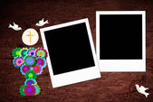 First Holy Communion two photo frames — Stock Photo