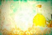 Olive oil antique background — Stock Photo