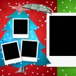 Christmas card four photo frames — Stock Photo #79583066