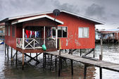 Slum in Borneo — Stock Photo