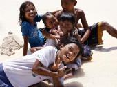 Cheerful Philippine children — Stock Photo
