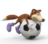 3d foxes football player. — Stock Photo
